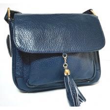 Кожаная женская сумка-клатч 03D17-4 Синий