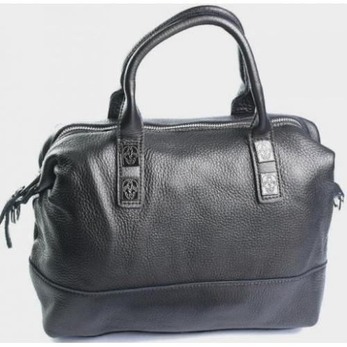 Женская кожаная сумка 87D90-9 grey