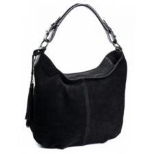 Женская замшевая сумка черная DO229-1