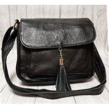 Кожаная женская черная сумка 03N17