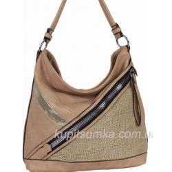 Женская сумка на плечо из эко кожи розовая 71D02