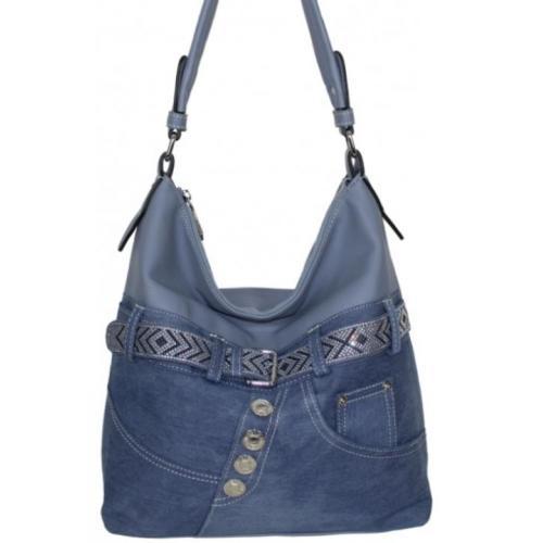 Женская сумка из джинсовой ткани 87D221 Голубой