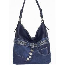 Женская сумка из денима и кожзаменителя 87D221-2 Синий