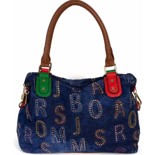 Женская сумка из джинсовой ткани 32D1-1 Синий