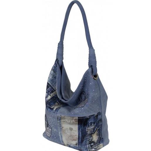 Городская женская сумка из денима интересного дизайна