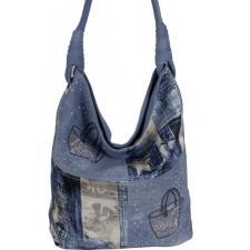 Женская сумка из джинсовой ткани 90D83 Голубой