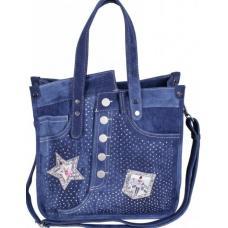 Молодежная сумка из джинсовой ткани в современном стиле