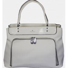 Женская сумка из кожзаменителя белая 86D877-34