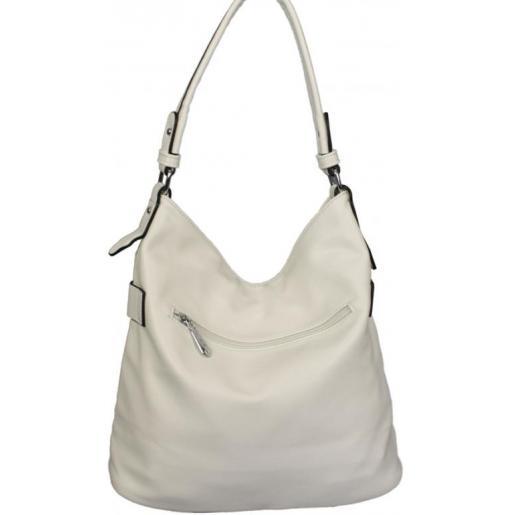 Привлекательная женская сумка из белого кожзаменителя