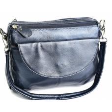 Кожаная женская сумка K11D95-4 Синий