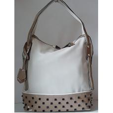 Женская сумка из кожзаменителя 564N Бежевый
