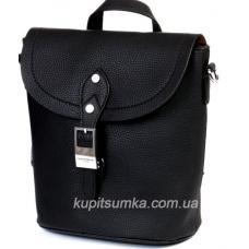 Стильный рюкзак из кожзаменителя ремни украшены стразами