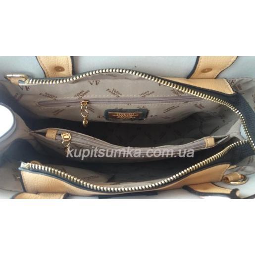 Женская сумка из натуральной кожи VF35U Абрикосовый