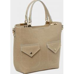 Женская сумка из натуральной кожи 792U505 Бежевый