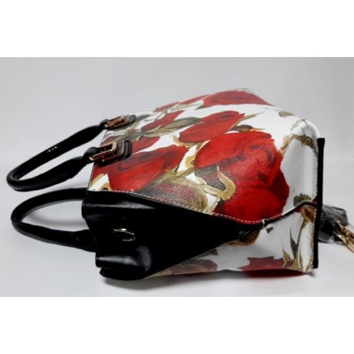 Женская сумка из кожзаменителя белая 18087U-1