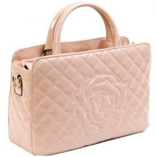Женская лаковая сумочка 5708-U-90-2 Бежевый