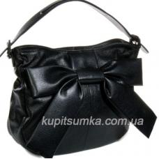 Гламурная женская сумка с бантом из натуральной кожи
