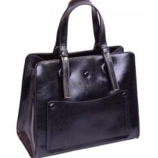 Классическая городская сумка из натуральной кожи среднего размера