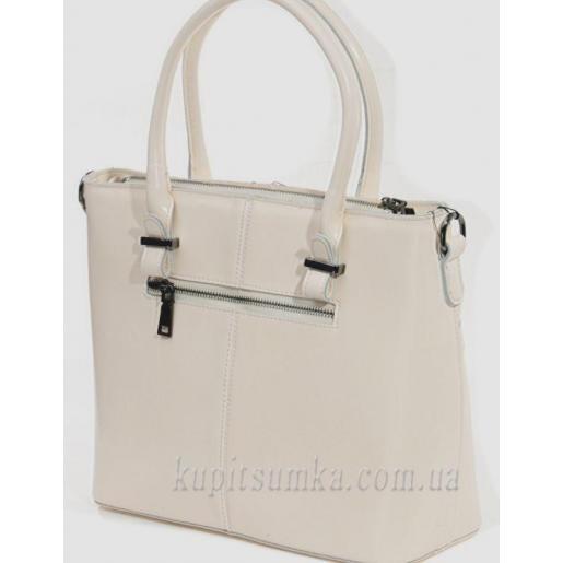 Женская бежевая кожаная сумка 66U90