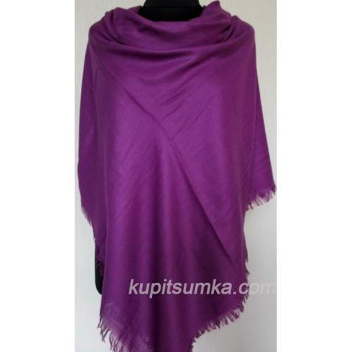 Теплый однотонный платок для женщин фиолетовый 29Т5
