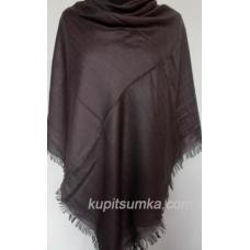 Теплый однотонный платок для женщин коричневый 29Т6