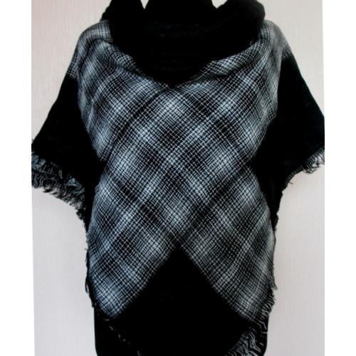 Женский теплый платок KT193-5 Черный