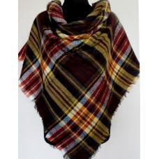 Женский платок Cashmere KT199-12 Коричневый