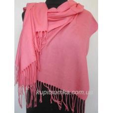 Женский однотонный палантин 22T9 Розовый