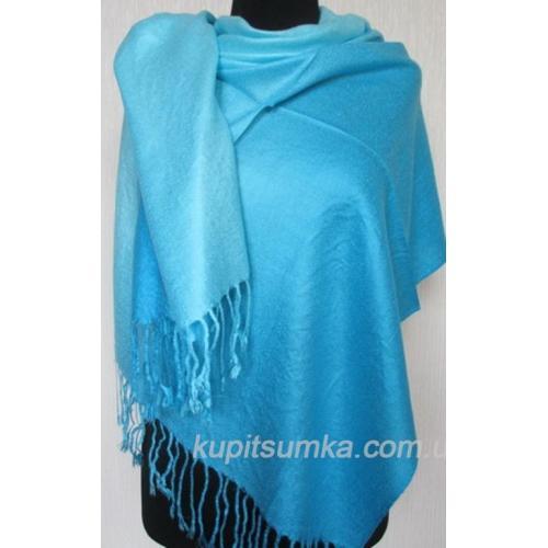 Женский палантин из пашмины 115T blue