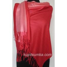 Женский палантин из пашмины 117Т red