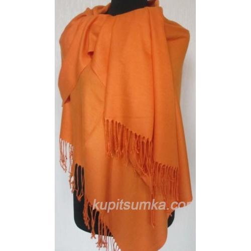 Женский палантин из пашмины 42Т Оранжевый