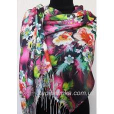 Женский палантин с цветочным принтом 478Т