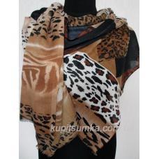 Женский шерстяной палантин тигровой расцветки 551П