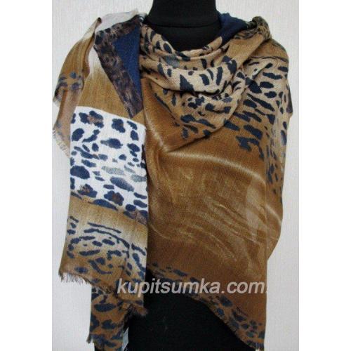 Женский шерстяной палантин тигровой расцветки 553П