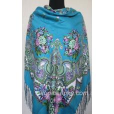 Украинский платок Казачка Голубой