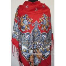 Украинский платок Казачка Красный