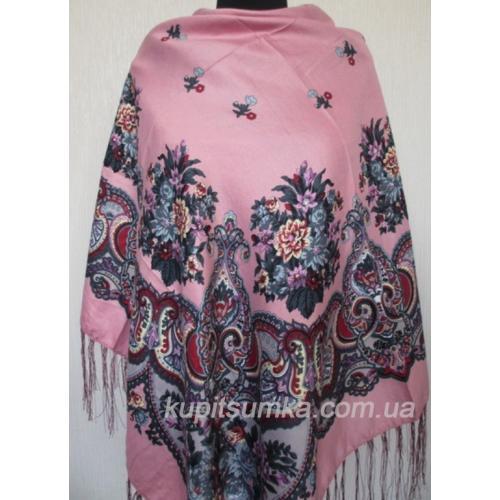 Украинский платок Казачка Розовый